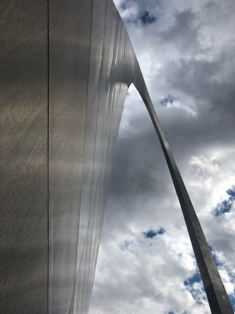 View from the base of the Gateway Arch