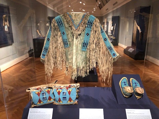 Beaded Lakota garments at Saint Louis Art Museum