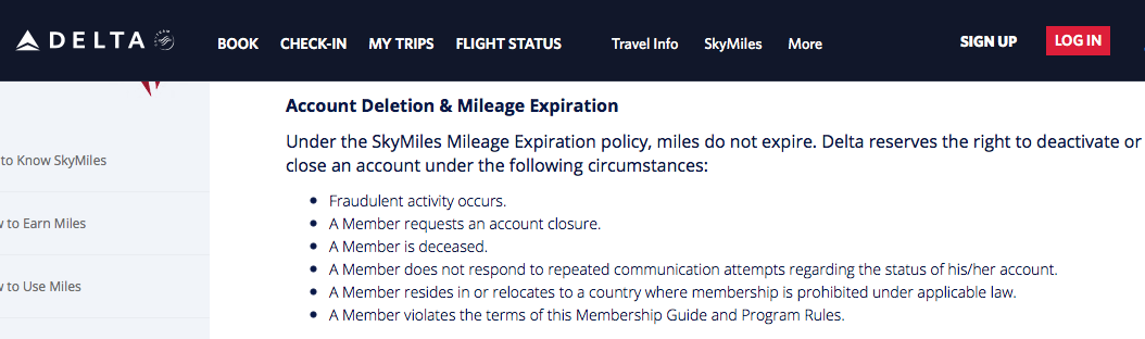 Delta Skymiles Terms and Conditions