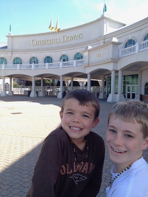 Family trip to Churchill Downs, KY