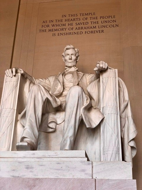 The Lincoln Memorial is one of the final stops on the bike tour.