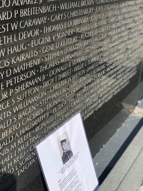 At the final strop on the tour,  you will see the iconic sleek black walls of the Vietnam Veterans Memorial.